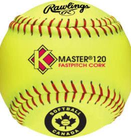 "Rawlings C120YCC -  K-MASTER 12"" Ball - Dozen"