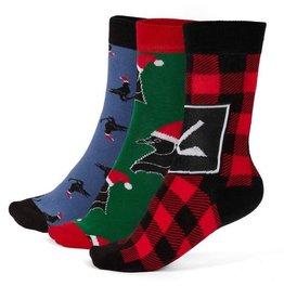 GONGSHOW Merry Chirpmas Socks - 3 pack