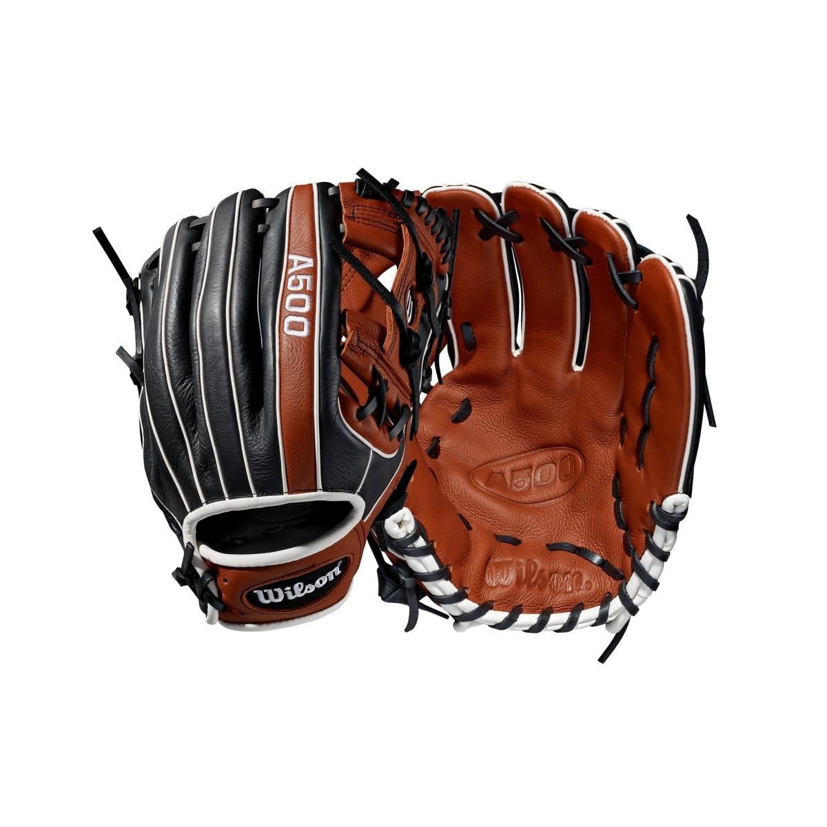 "Wilson A500 Baseball Glove - Cooper/Black - 11.5"""