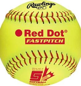 Worth Worth Red Dot 11'' Softball - Dozen
