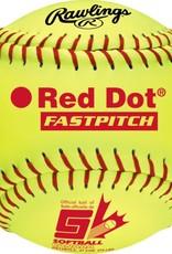 Worth Worth Red Dot 12'' Softball - Dozen
