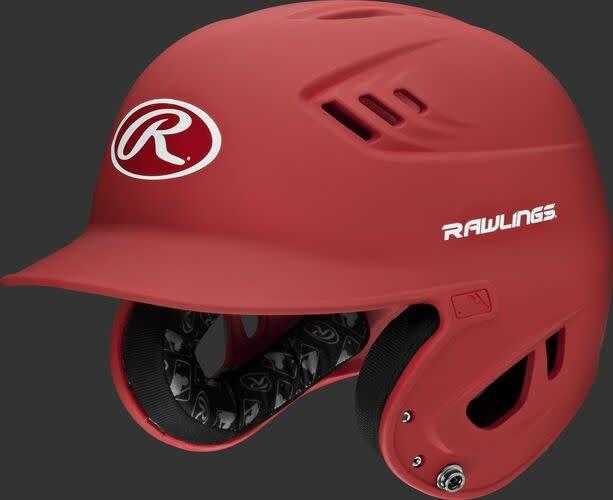 Rawlings R16MS Rawlings R16 Matte Helmet Senior Matte Scarlet