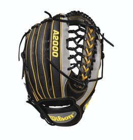 Wilson A2000 Pedroia Fit PF92 Gray/Black/Yellow Gold 12.25