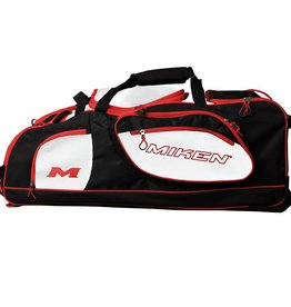 Rawlings Miken Championship Wheeled Bag Black /Red