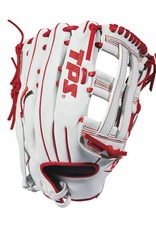 Louisville Slow Pitch TPS Infield -WH/Red - 13""