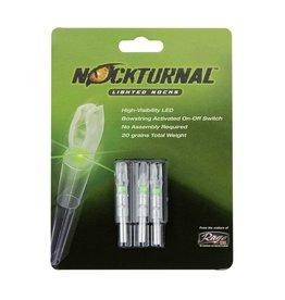 Nockturnal Nocturnal H 3pk Green Lighted Nocks