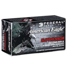 Federal Federal American Eagle 22 LR 45gr CPRN Subsonic 50rd box (AE22SUP1)