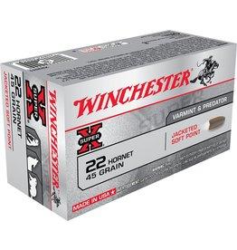 Winchester Winchester 22 Hornet 45GR JSP 50rd Box (X22H1)