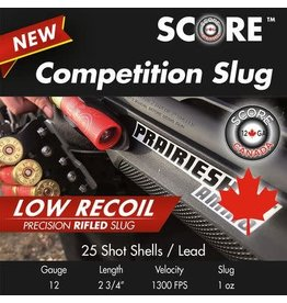 "Score Score 12GA Slug Low Recoil 1300fps 2.75"" 1oz (12SLGLOW)"