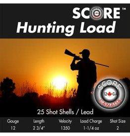 "Score Score Hunting 12GA 1350fps 2.75"" 1.1/4oz #2 (12LHL2 )"