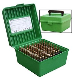 MTM MTM Deluxe R-100 Handled 100rd Rifle Ammo Box
