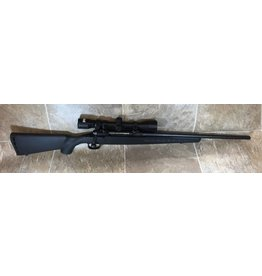 """Savage Arms Savage Axis 243 win blk syn stock 20"""" standard blued barrel w/Bushnell 3-9x40 scope (J538245)"""