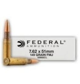 Federal Federal 7.62 x 51mm NATO 149gr FMJ m80 Ammo (XM80CL)