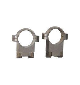 """Burris Burris 1"""" Ruger Style Rings M77 meduim nickel 2 hole(420100)"""