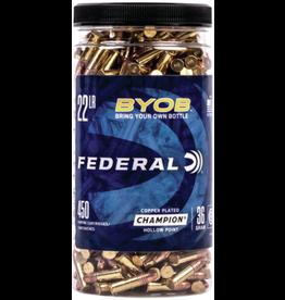 Federal Federal BYOB 22 LR 36gr CPHP Ammo 450rd/bottle (750BTL450)