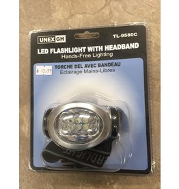 "Unex UNEX Headlamp w/ straps 3 ""AAA"" Batteries 10 LEDS batteries not included (TL-9580C)"