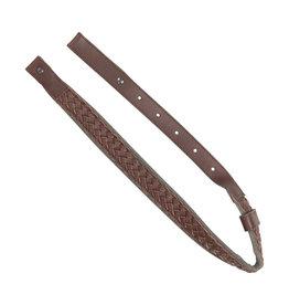 Allen Allen 8372 sling-rfl-brn Leather w/grn suede