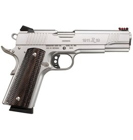 "Remington Remington 1911 R1 Stainless Enhanced 45 ACP diamond walnut grip 5"" barrel (96328)"