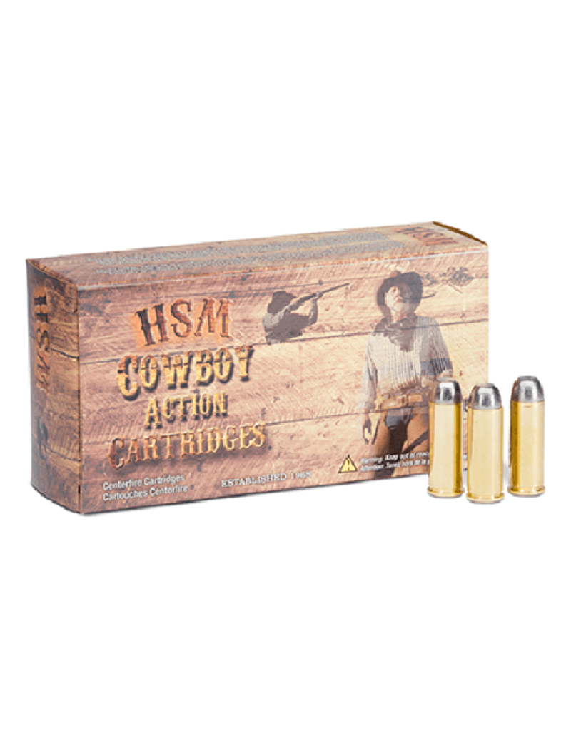 HSM HSM 44-40 win 200gr RNFP Cowboy cap/car lead ammo 50ct (HSM-44-40-1-N)