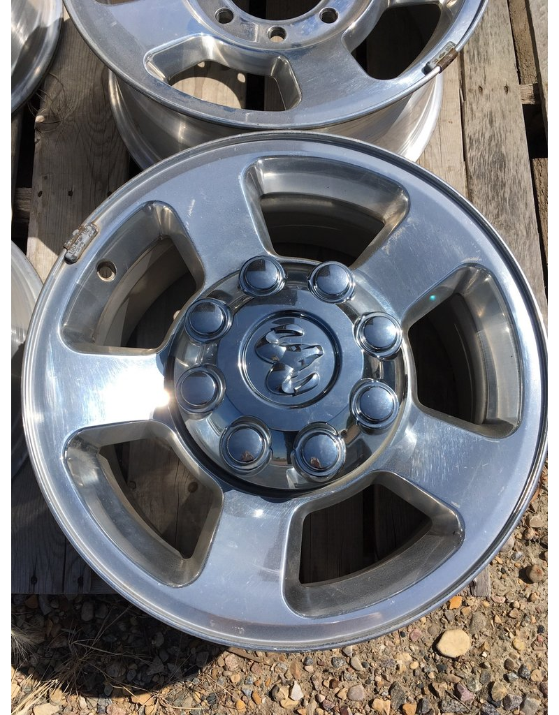 """Dodge Take offs Dodge Aluminum Rims with Caps set of 4, 17 """" 8 hole fits 2500 or 3500"""