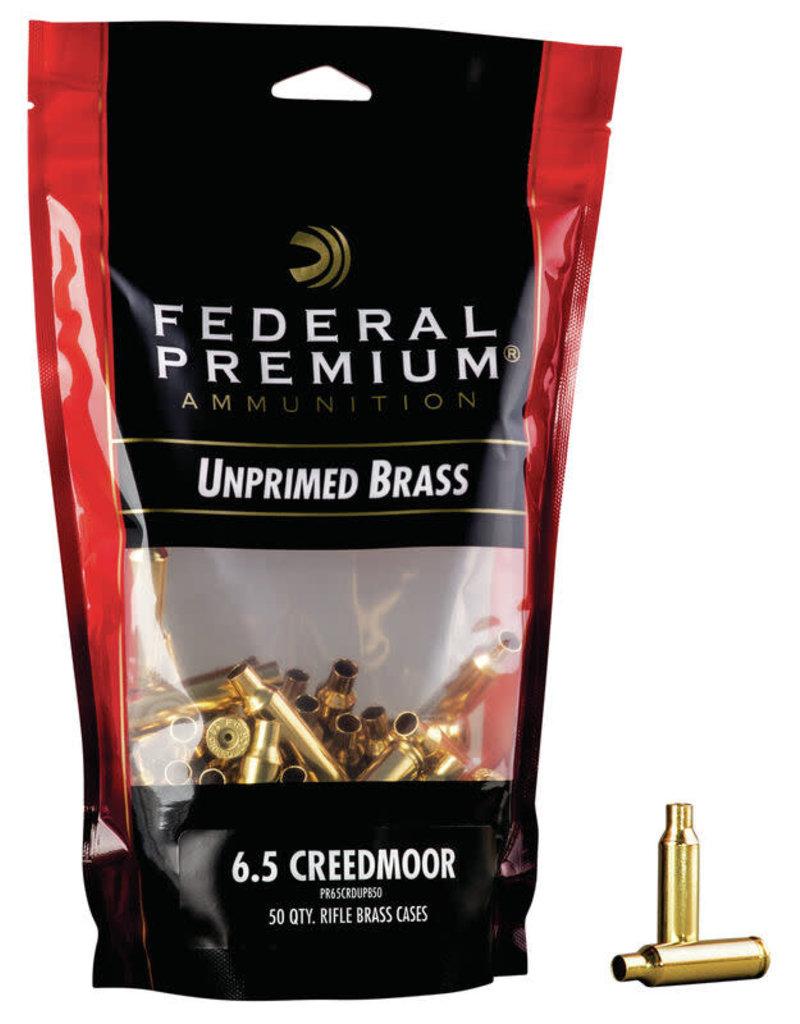 Federal Federal Premium 6.5 Creedmoor Unprimed Brass 50rd (PR65CRDUPB50)