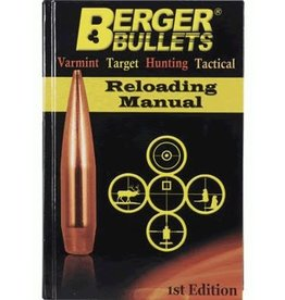 Berger BERGER BULLETS FIRST EDITION RELOADING MANUAL (11111)