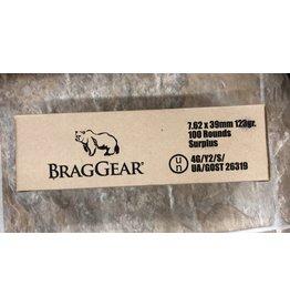 BragGear 7.62x39 123gr 100 Rounds Surplus