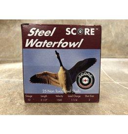 """Score Score 12GA Steel 1560fps 3.5"""" 1.1/4 oz #2 CASE (12S352CASE)"""