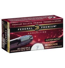 Federal Federal Premium 22 LR 40gr HP hunter match ammo (720)