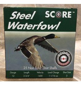 """Score Score 12GA Steel 1400fps 2.75"""" 1.1/16oz #3 (12S23/411/163)"""