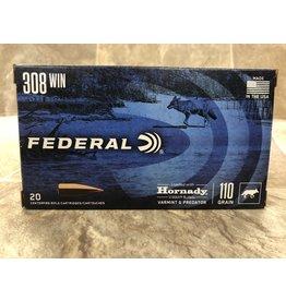 Federal Federal 308win 110gr Hornady V-max 20ct (V308VM110)
