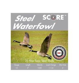 """Score Score 12GA Steel 1550fps 3"""" 1.1/4oz #2 (12S311/42)"""