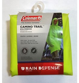 Coleman Coleman Camino Trail Rain Poncho Youth Florescent Yellow