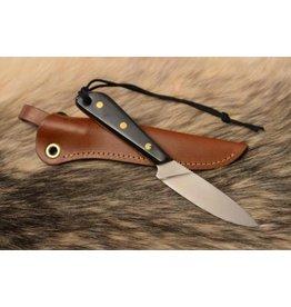 Grohmann Knives Grohmann Boat Knife Flat Grind w/Micarta Handle & Leather Sheath (M3SF)