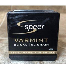 Speer Speer .224dia 22Cal 52gr HP Varmint 100 CT Bullet (1035)