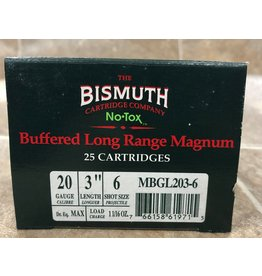 """Bismuth Bismuth 20ga 3"""" BUF #6 NON toxic waterfowl 25rds (MBGL2036)"""