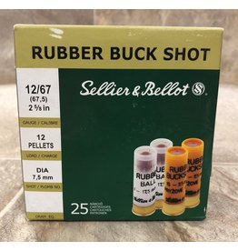 "Sellier & Bellot Sellier & Bellot 12ga 2 5/8"" 12 pellets 7.5 Dia Rubber Buck 25 pk -12 Balls (V075252)"