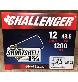 "Challenger Challenger Super Short Shell 12ga 1.3/4"" 5/8oz 1200FPS #7.5 20rd box (60007)"