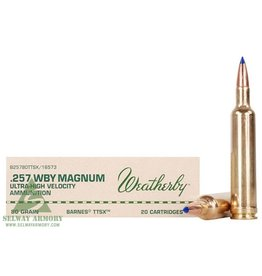 Weatherby Weatherby 257 Wby Mag 80gr Barnes (B25780TTSX)