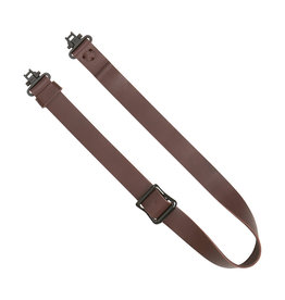 "Allen Allen 8432 Slide & Lock Leather Rifle Sling, 1.25"", W/Swivels"
