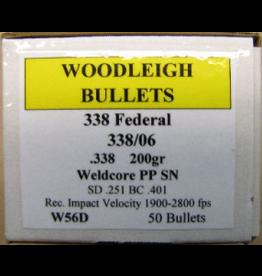 Woodleigh Woodleigh .338dia 338Cal 200gr PPSN 50 CT Bullet (W56D)