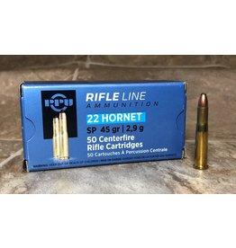 PPU PPU RifleLine 22 Hornet 45gr SP 50rds (PP22H)