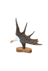 Moose Antler Carving - Eagle Head Painted