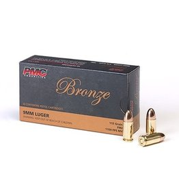PMC PMC Bronze 9mm Luger 9A 115gr FMJ (PMC9A)
