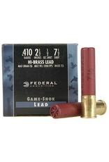 Federal Federal H412-7.5 Game-Shok Upland - Hi-Brass Shotshell 410 GA, 2-1/2 in