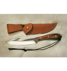 Grohmann Knives Grohmann Survival Guthook w/Rosewood Handle & Leather Sheath (R4SG)