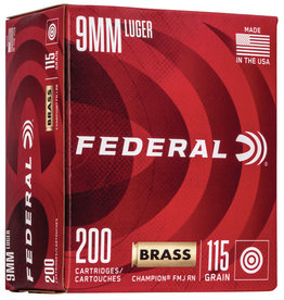 Federal Federal 9mm 115gr FMJ Chammpion Training 200rds (WM51992)