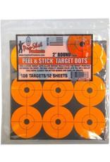 """Pro Shot Pro Shot 2"""" Orange Peel & Stick Target Dots, 108 targets"""