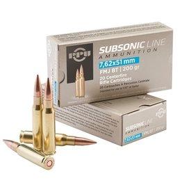 PPU PPU Subsonic Line 7.62x51 200gr FMJ BT (PPS762)