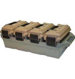 MTM MTM 4-Can Ammo Crate 30 Cal Dark Earth (AC4C)